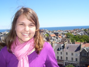 At the top of Holy Trinity Church in St. Andrews Scotland