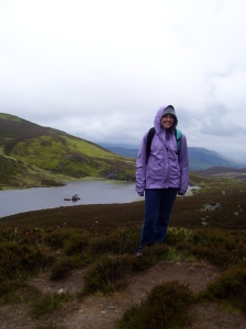 Climbing a mountain near Pitlochry on a cold, wet day