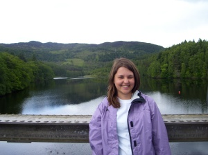 Here I am on a bridge in Pitlochry, Scotland