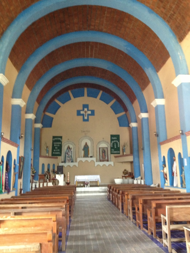 Inside the Catholic Church in Tututepec