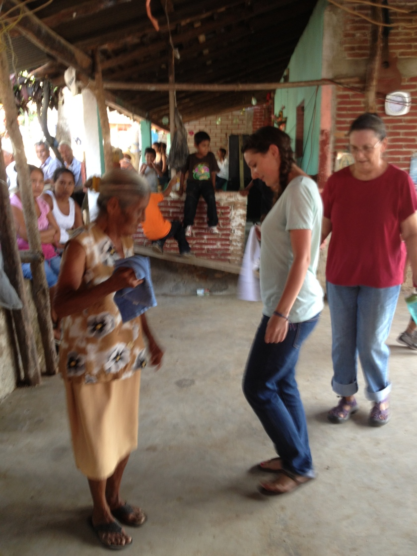 A Tiny Mixteco Woman Teaches Cassie and Elaine to Dance