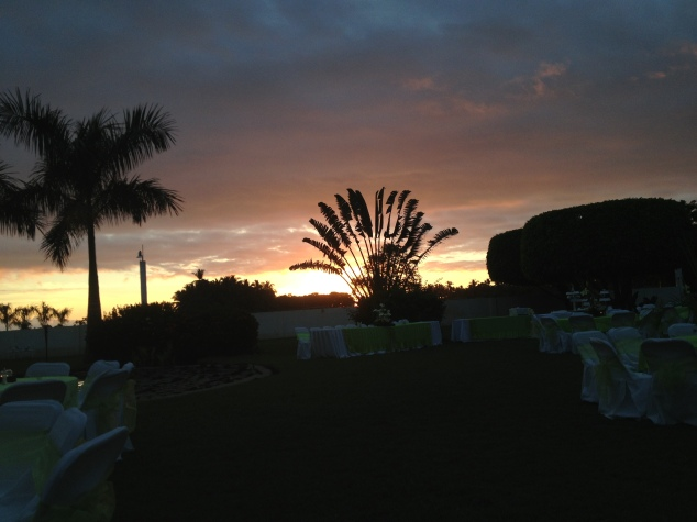 Sunset at a Mexican Wedding