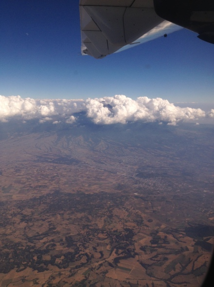 Flying over Mexico