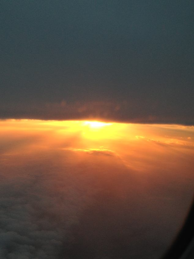 Sunset from the flight to Tulsa